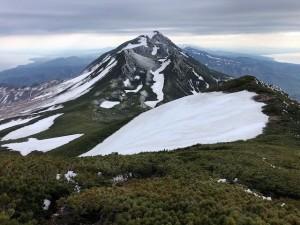サシルイ岳から三ッ峰、羅臼岳